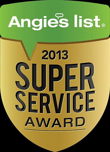 , Super Service Award on Angie's List
